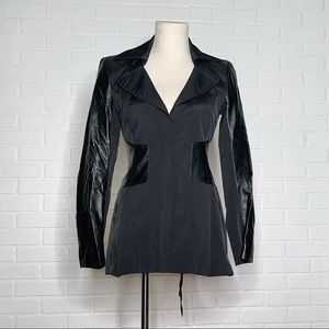 Bebe Trench Coat with Leather Details